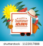 summer holidays set icons | Shutterstock .eps vector #1122017888