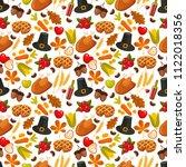traditional thanksgivin day... | Shutterstock . vector #1122018356