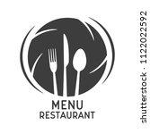 vintage restaurant menu logo  ... | Shutterstock .eps vector #1122022592