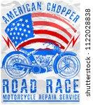 motorcycle poster tee graphic... | Shutterstock .eps vector #1122028838