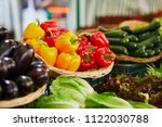 fresh organic vegetables and... | Shutterstock . vector #1122030788