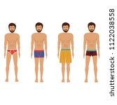 different men's underwear and...   Shutterstock .eps vector #1122038558