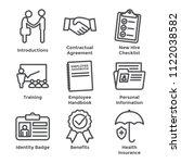 new employee hiring process... | Shutterstock .eps vector #1122038582