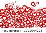 vector social network 3d like...   Shutterstock .eps vector #1122044225