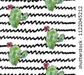 vector illustration. cactus.... | Shutterstock .eps vector #1122045212