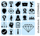 set of 22 business icons ... | Shutterstock .eps vector #1122046862