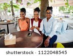 three casual african american... | Shutterstock . vector #1122048545