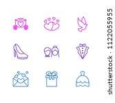 vector illustration of 9... | Shutterstock .eps vector #1122055955