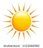 summer sun shinig with super... | Shutterstock .eps vector #1122060482