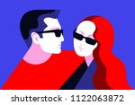 couple in love. man and woman... | Shutterstock .eps vector #1122063872