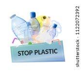 stop plastic pollution  plastic ... | Shutterstock .eps vector #1122072392