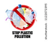 no plastic signal  protest... | Shutterstock .eps vector #1122072395