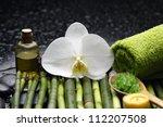 spa setting on bamboo grove | Shutterstock . vector #112207508