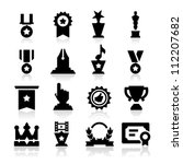 medals icons | Shutterstock .eps vector #112207682