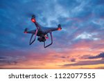 drone quadcopter with digital... | Shutterstock . vector #1122077555