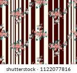 seamless glowing pattern in... | Shutterstock . vector #1122077816