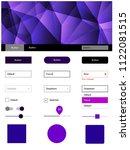 dark purple vector ui ux kit in ...