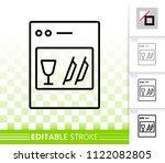 dishwasher thin line icon....   Shutterstock .eps vector #1122082805