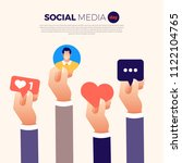 social media day vector... | Shutterstock .eps vector #1122104765