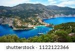 the harbor of assos in... | Shutterstock . vector #1122122366