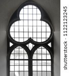black and white photo of gothic ... | Shutterstock . vector #1122123245