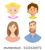 emotions of human face. set of... | Shutterstock .eps vector #1122126572