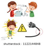 vector illustration of kids... | Shutterstock .eps vector #1122144848