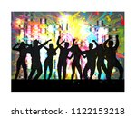 dancing people silhouettes. | Shutterstock .eps vector #1122153218