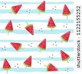 watermelon  ice cream seamless... | Shutterstock .eps vector #1122155252