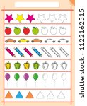 color and complete the pattern  ... | Shutterstock .eps vector #1122162515