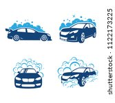 auto wash and clening car logo...   Shutterstock .eps vector #1122173225