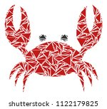 crab mosaic of triangle... | Shutterstock .eps vector #1122179825