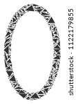 contour ellipse mosaic of... | Shutterstock .eps vector #1122179855