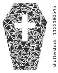 coffin mosaic of triangle...   Shutterstock .eps vector #1122180545