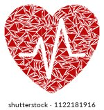 cardiology collage of triangle... | Shutterstock .eps vector #1122181916