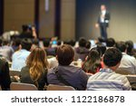 rear side of audiences sitting... | Shutterstock . vector #1122186878
