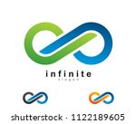 creative infinity simple icon... | Shutterstock .eps vector #1122189605