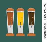 beer tower tap flat design | Shutterstock .eps vector #1122193292