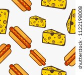 cheese and hotdog fast food... | Shutterstock .eps vector #1122198008