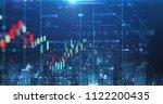 double exposure image of stock... | Shutterstock . vector #1122200435