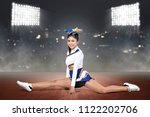 beautiful asian cheerleader... | Shutterstock . vector #1122202706