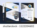 poster flyer pamphlet brochure... | Shutterstock .eps vector #1122204602