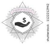 money in hand  dollar symbol... | Shutterstock .eps vector #1122212942