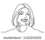 continuous line drawing of... | Shutterstock .eps vector #1122224252