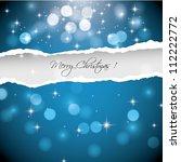 christmas blue background   Shutterstock .eps vector #112222772