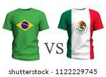 brazil vs mexico . soccer...   Shutterstock . vector #1122229745