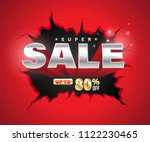 super sale 3d exploded on... | Shutterstock .eps vector #1122230465