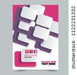a4 flyer template. abstract... | Shutterstock .eps vector #1122231332