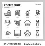 coffee icon set | Shutterstock .eps vector #1122231692