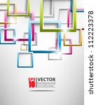 abstract vector multicolor... | Shutterstock .eps vector #112223378
